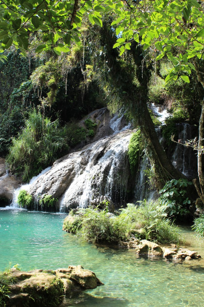el nicho cuba waterfall swimming hole