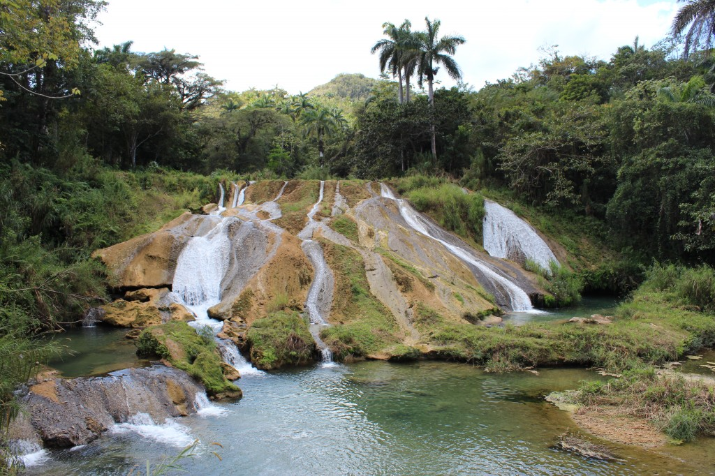 lower waterfall at el nicho cuba