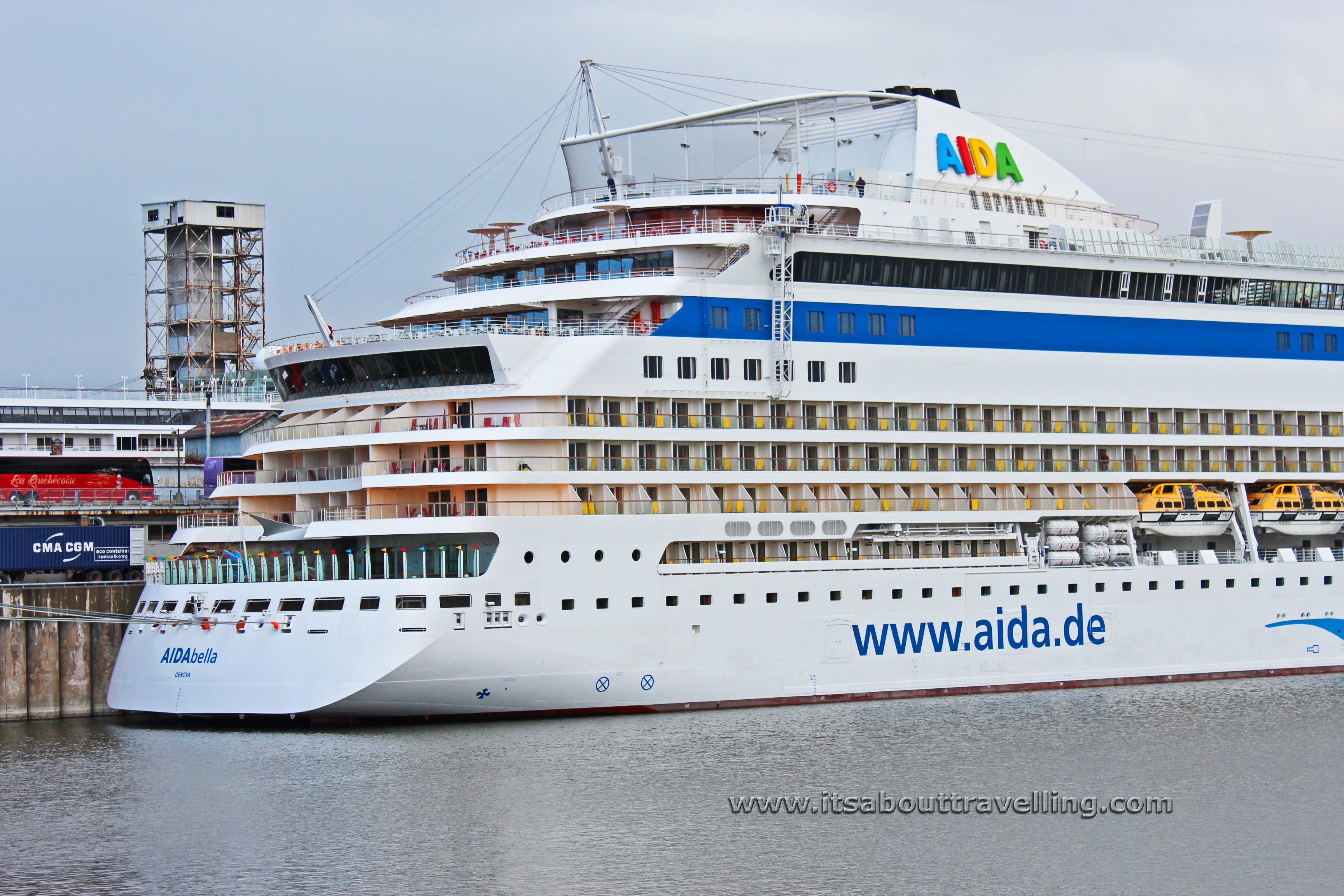 The AIDAbella At The Montreal Cruise Port Its About Travelling - Aida de cruise ship