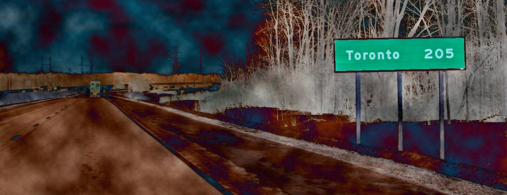 An Artistic Look At 401 Road Signs In Southern Ontario