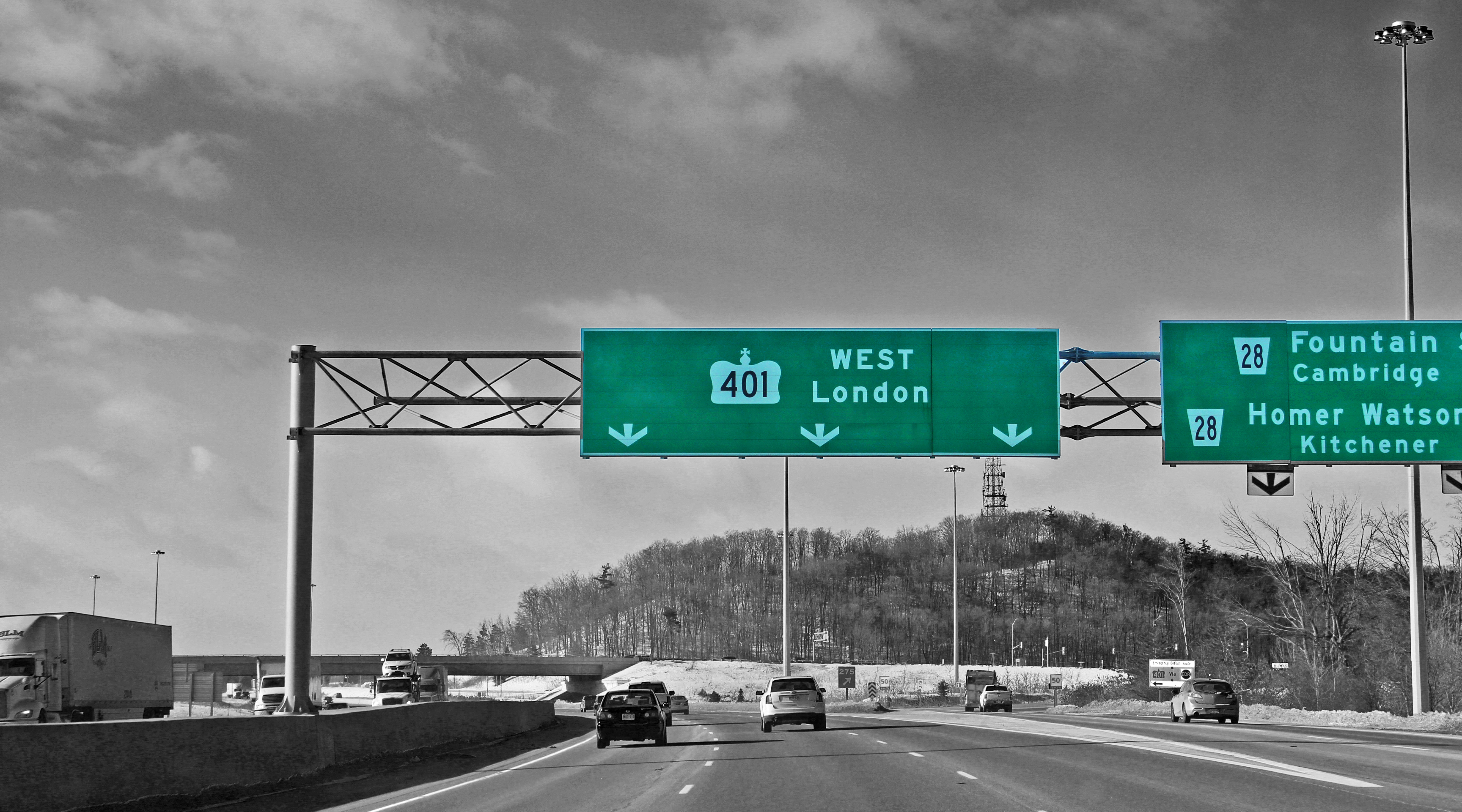 An Artistic Look at 401 Road Signs in Southern Ontario ...