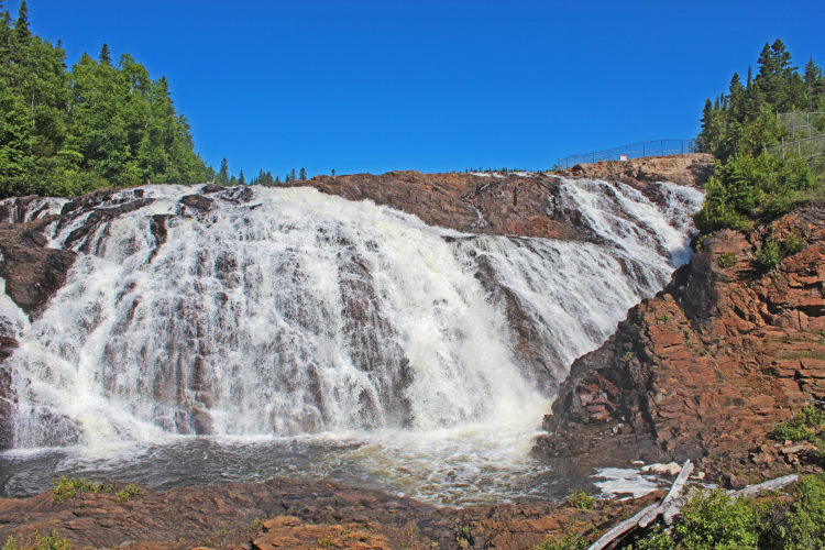 scenic high falls on magpie river wawa ontario