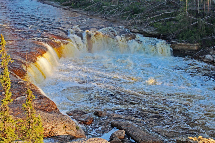 coral falls trout river northwest territories