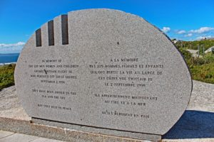 swissair flight 111 memorial peggy's cove nova scotia atlantic ocean
